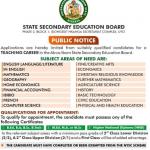 www.sseb.ak.gov.ng Recruitment 2021/2022 – Akwa Ibom State Secondary Education Board